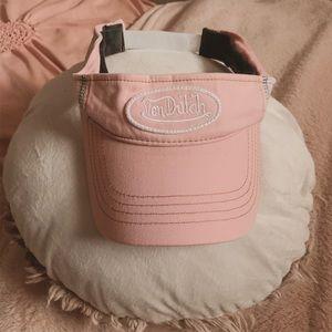 Von Dutch vtg custom pink white mesh visor hat